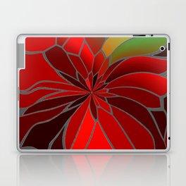 Abstract Poinsettia Laptop & iPad Skin