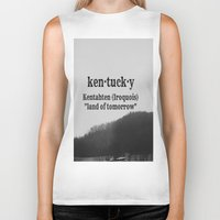 kentucky Biker Tanks featuring Kentucky by KimberosePhotography