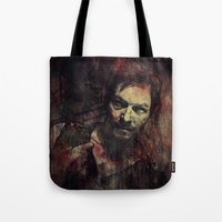 daryl Tote Bags featuring Daryl Dixon by Sirenphotos