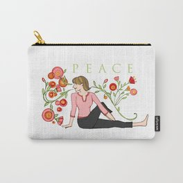 Yoga Girls_Peacefull Twist_Robin Pickens Carry-All Pouch