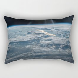 ISS-47 Lake Balkhash, eastern Kazakhstan Rectangular Pillow