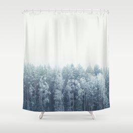 Frosty feelings Shower Curtain