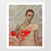 stiles Art Prints featuring Stiles Stilinski by Sudjino