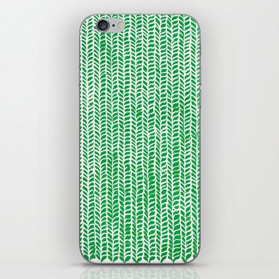 Stockinette Green iPhone Skin