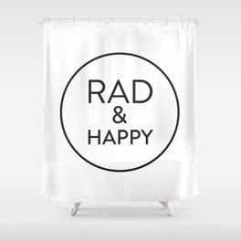 Rad & Happy Shower Curtain