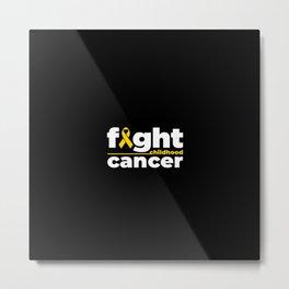 Childhood Cancer Awareness Metal Print