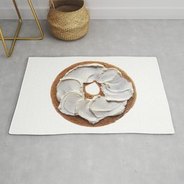 Bagel with Cream Cheese Rug