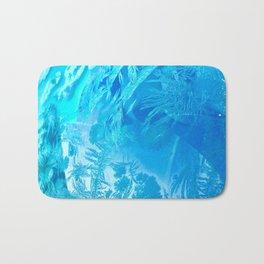 Hoar Frost in Turquoise Bath Mat