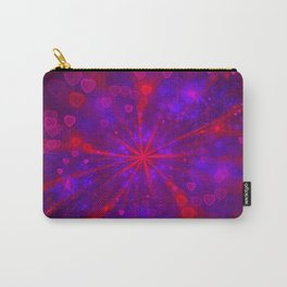 Valentine's Day | Romantic Galaxy | Universe of red, blue, purple hearts Carry-All Pouch