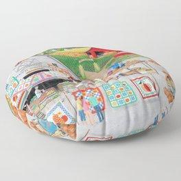 Autumn Quilts Floor Pillow