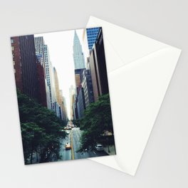 New York City Street Skyscapers Travel Wanderlust #tapestry Stationery Cards