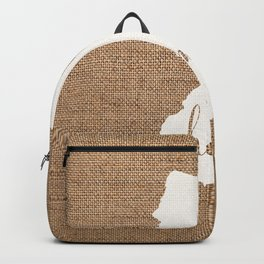 New Jersey is Home - White on Burlap Backpack