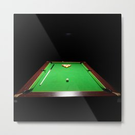 Pool Table Metal Print