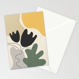 Organic Shapes Flower Still Life Stationery Cards