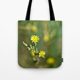 Golden flowers by the lake 1 Tote Bag