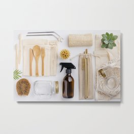 zero waste cleaning and beauty products Metal Print
