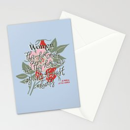 Women - Blue Stationery Cards