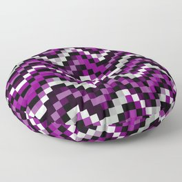 Asexual Pride Pixellated Zigzag Stripes Floor Pillow