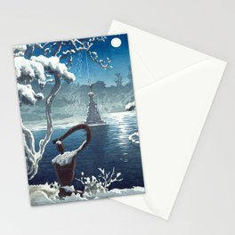 Castle in the Sky japanese vintage mashup Stationery Cards