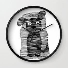 Cute puppy. Wall Clock