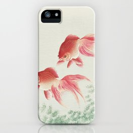 Oriental Goldfish illustration iPhone Case