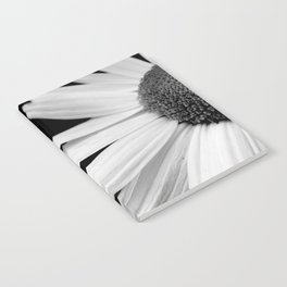 Half Daisy in Black and White Notebook