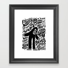internal monologue Framed Art Print