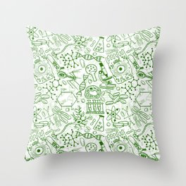 School Chemical pattern #1 Throw Pillow