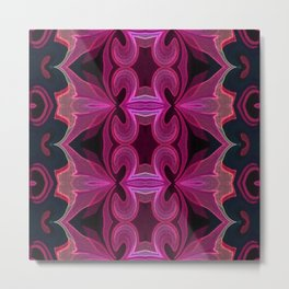 Pink n Black Beauty Metal Print