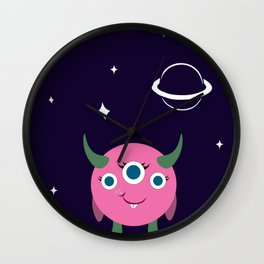 Piper in space Wall Clock