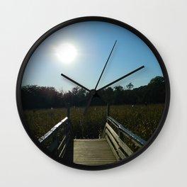 A Sunny Farm Landscape Wall Clock