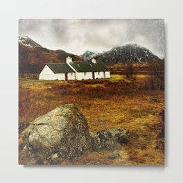 Blackrock Cottage Glencoe Scotland Metal Print