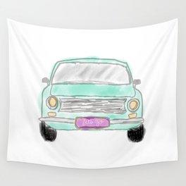 My new car  - digital watercolor car art Wall Tapestry