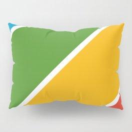 Colorful Diagonal Stripes Pillow Sham