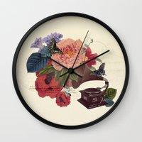 flora Wall Clocks featuring FLORA by Pepper / Shop