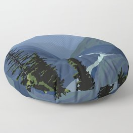 North Cascades National Park, Vintage Floor Pillow