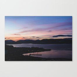 Sunset over the River Clyde, Scotland Canvas Print