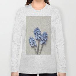 Light Blue Hyacinths Long Sleeve T-shirt