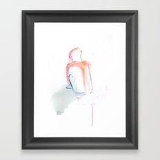 Girl in Brights Framed Art Print
