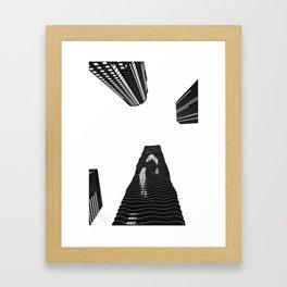 Aqua Tower Framed Art Print