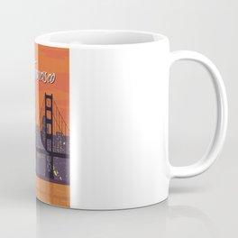 San Francisco vintage poster travel Coffee Mug
