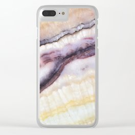 Striated Geod Clear iPhone Case