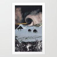 Black Sky Art Print