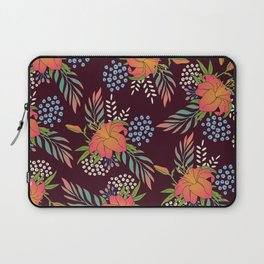 Red Floral Print Laptop Sleeve