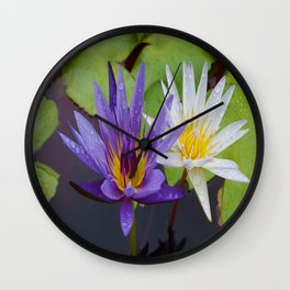 Loving Lotuses Wall Clock