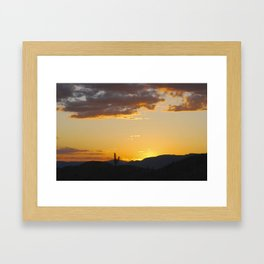 Catching Sunsets Framed Art Print