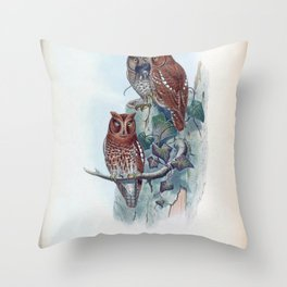 scops pennata Throw Pillow