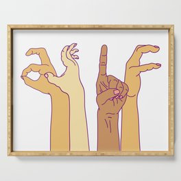 AS IF - hand signs Serving Tray