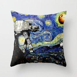 Starry Night versus the Empire Throw Pillow
