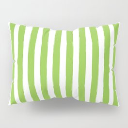 Green and White Cabana Stripes Palm Beach Preppy Pillow Sham